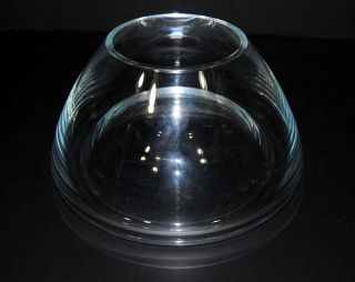Crystal Concave Bottom Glass Flower Table Vase Planter Terrarium Poland 1lb. , photo