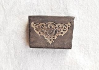 Old Antique Iron Metal Unique Design Jewellery Thick Heavy Stamp Die Collectible photo