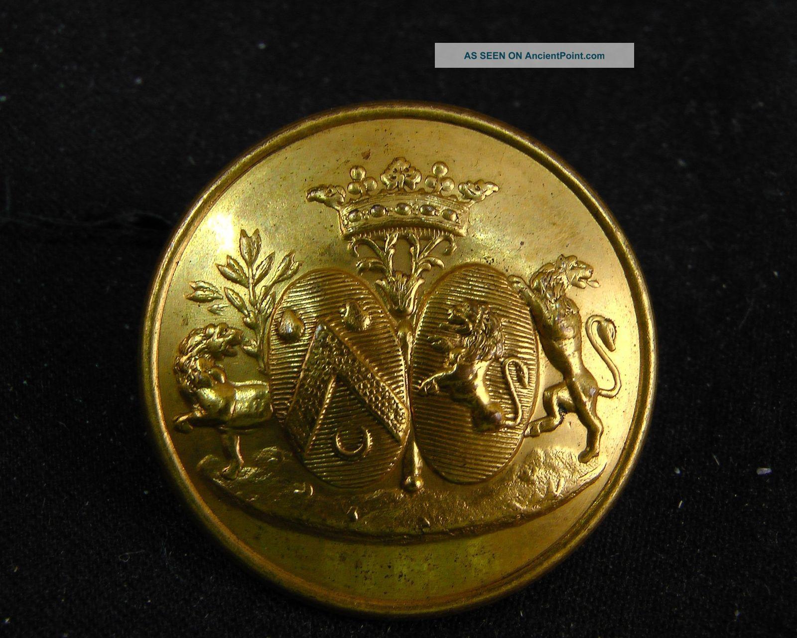 Philibert Gustave Mareschal De Longeville De La Rodde French Livery Button 28mm Buttons photo
