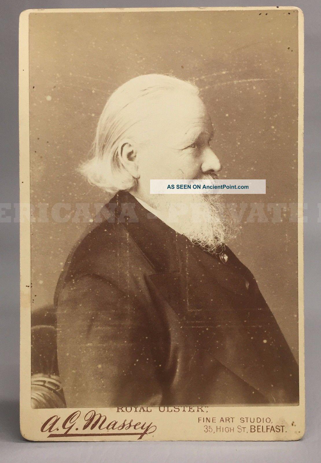 Phrenologist Lorenzo Niles Fowler - L.  N.  Fowler Phrenological Head Vtg Photo Other Medical Antiques photo