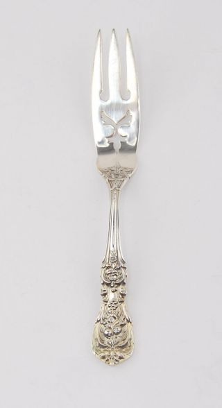 Vintage Reed & Barton Francis I Sterling Silver Lemon Fork photo