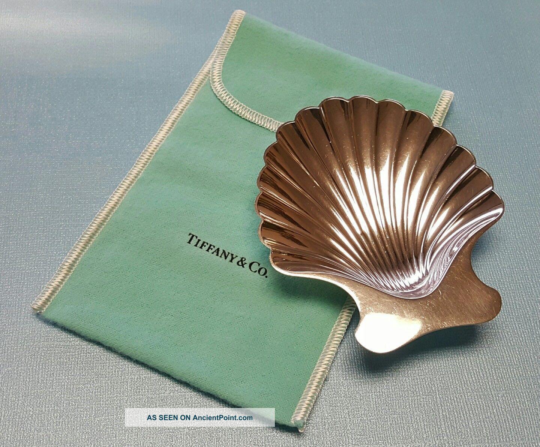 Vintage Tiffany & Co Sterling Silver Clam Sea Shell Ashtray /dish Bowls photo