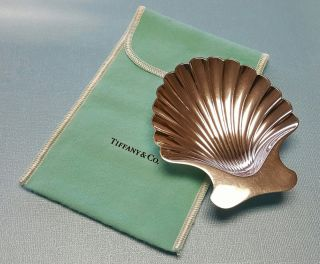 Vintage Tiffany & Co Sterling Silver Clam Sea Shell Ashtray /dish photo