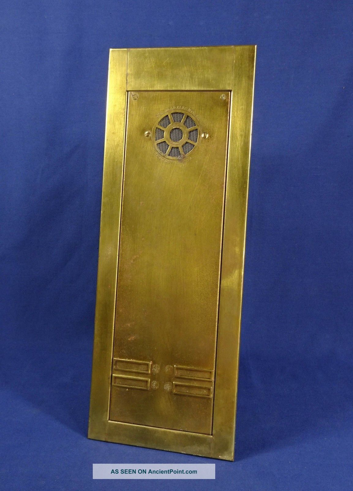 Vtg Standard Electric Brass Apartment Intercom Panel Call Box Antique Salvage Other Antique Architectural photo