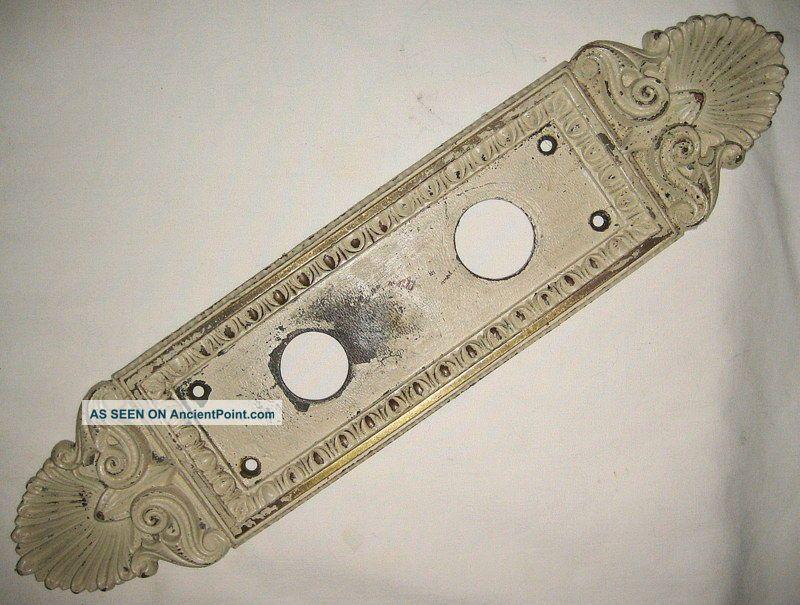 Antique Cast Brass Victorian/edwardian Matching Door Plates Door Plates & Backplates photo
