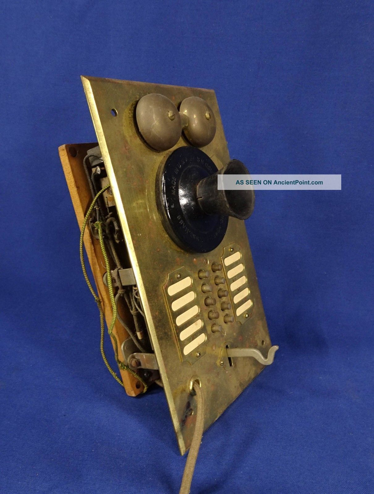 Vintage S H Couch Brass Apartment Intercom Panel Plate Call Box Antique Salvage Other Antique Architectural photo