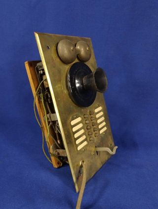 Vintage S H Couch Brass Apartment Intercom Panel Plate Call Box Antique Salvage photo
