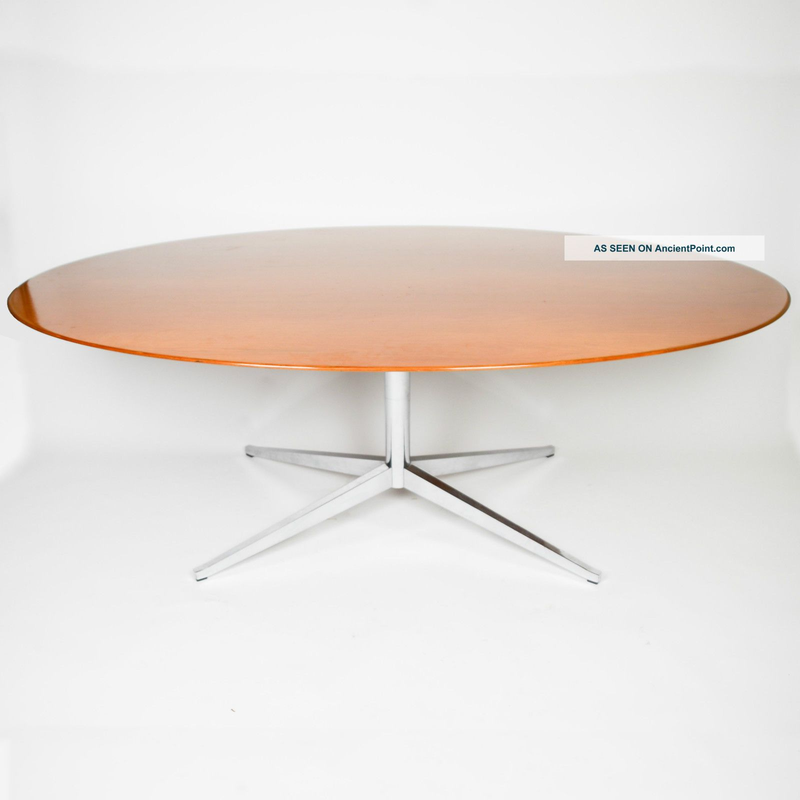 Vintage Florence Knoll 78 Inch Conference / Dining Table Teak Shape Mid-Century Modernism photo
