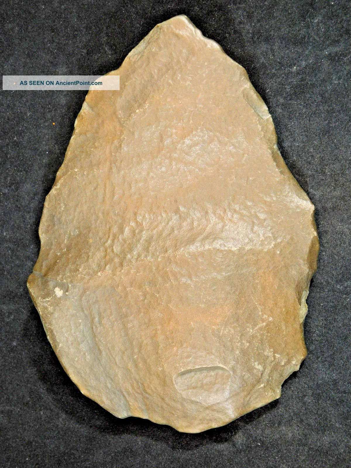 A Big One Million Year Old Early Stone Age Acheulean Handaxe Mauritania 542gr Neolithic & Paleolithic photo