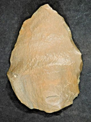 A Big One Million Year Old Early Stone Age Acheulean Handaxe Mauritania 542gr photo