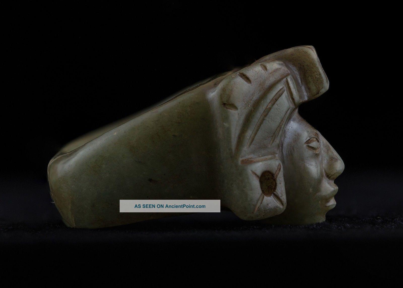 Pre Columbian Mayan Ring Stone Figurine - Antique Statue - Olmec Mayan Aztec The Americas photo