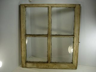Vintage Window Sash Antique Distressed Picture Frame Farmhouse 4 Pane 28x25 1 photo