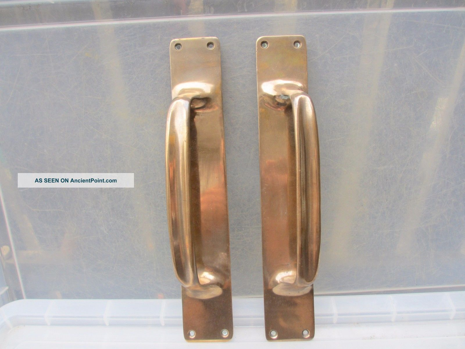Antique Bronze Door Handles Shop Pulls Vintage Pub Old Victorian - Edwardian 13