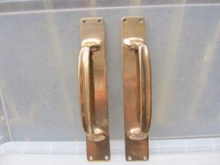 Antique Bronze Door Handles Shop Pulls Vintage Pub Old Victorian    Edwardian 13