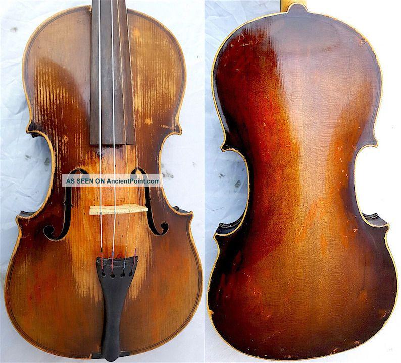 Fine 4/4 Old Master Label: J.  Dvorak Violin Old Wood 小提琴 СКРИПКА Geige String photo