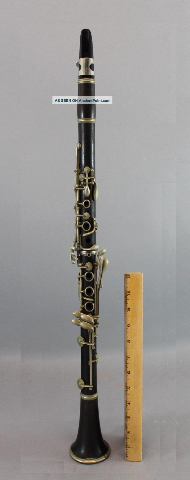 19thc Antique French Thibouville - Cabart Paris Rosewood Clarinet Instrument,  Nr Wind photo