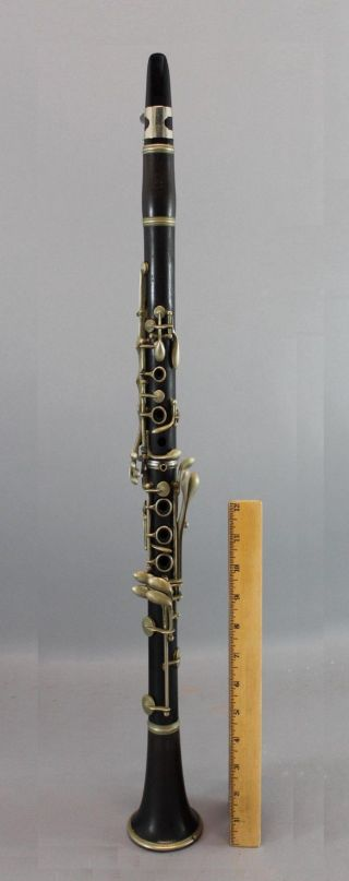 19thc Antique French Thibouville - Cabart Paris Rosewood Clarinet Instrument,  Nr photo