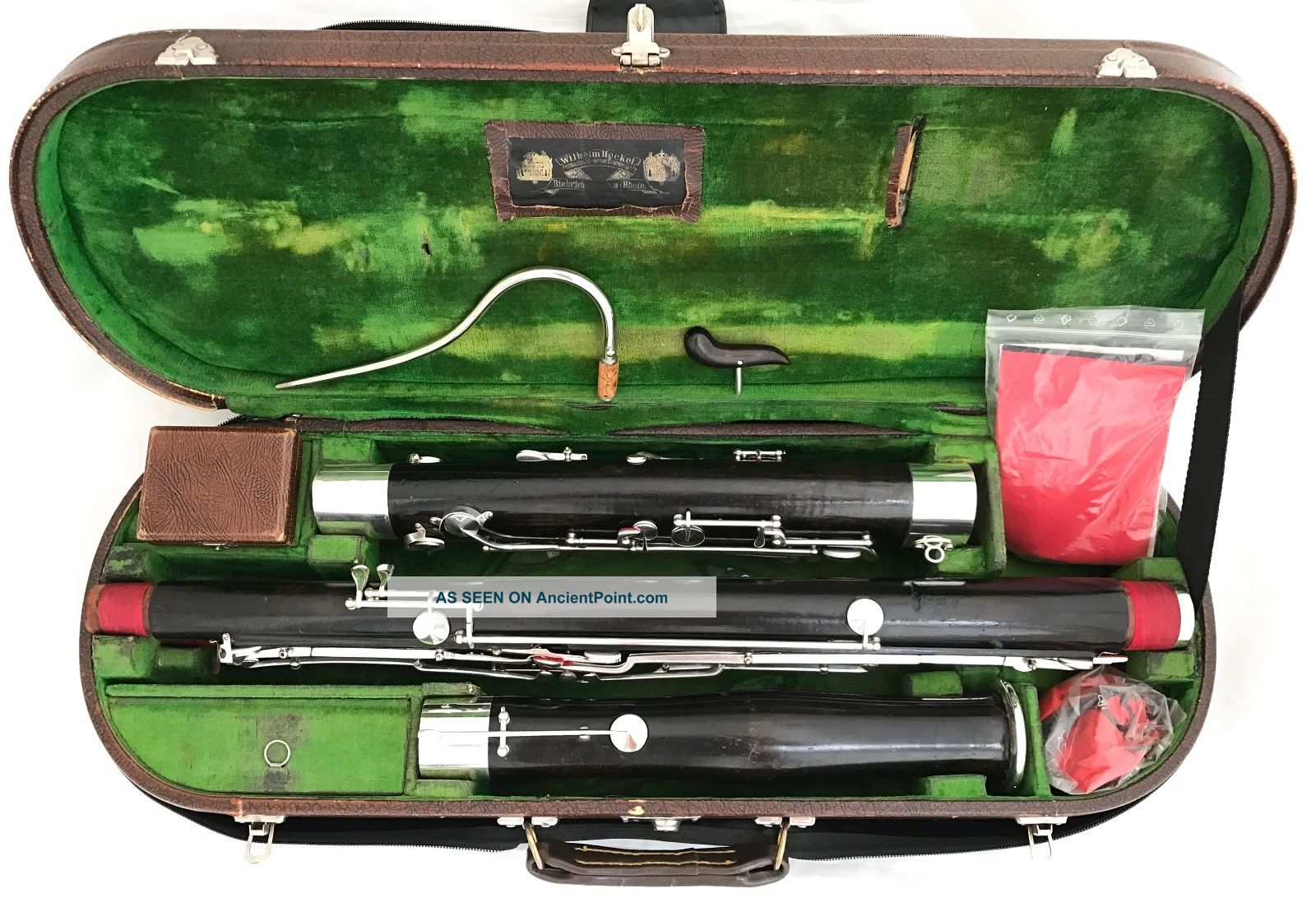 Historical Heckel Biebrich Bassoon Owned By Erich Wolschke - Completely Restored Wind photo