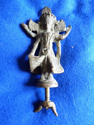 Antique / Vintage Brass Chinese / Buddha / Indian Deity Figure - Unknown - By/5c photo