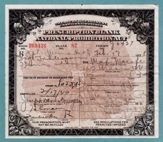 Prohibition Prescription Medical Whiskey Antique Drug Store Pharmacy Doctor Bar photo