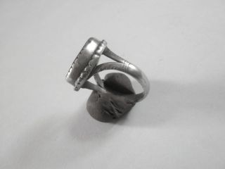 Georgian/early Victorian Memento Mori Silver Ring