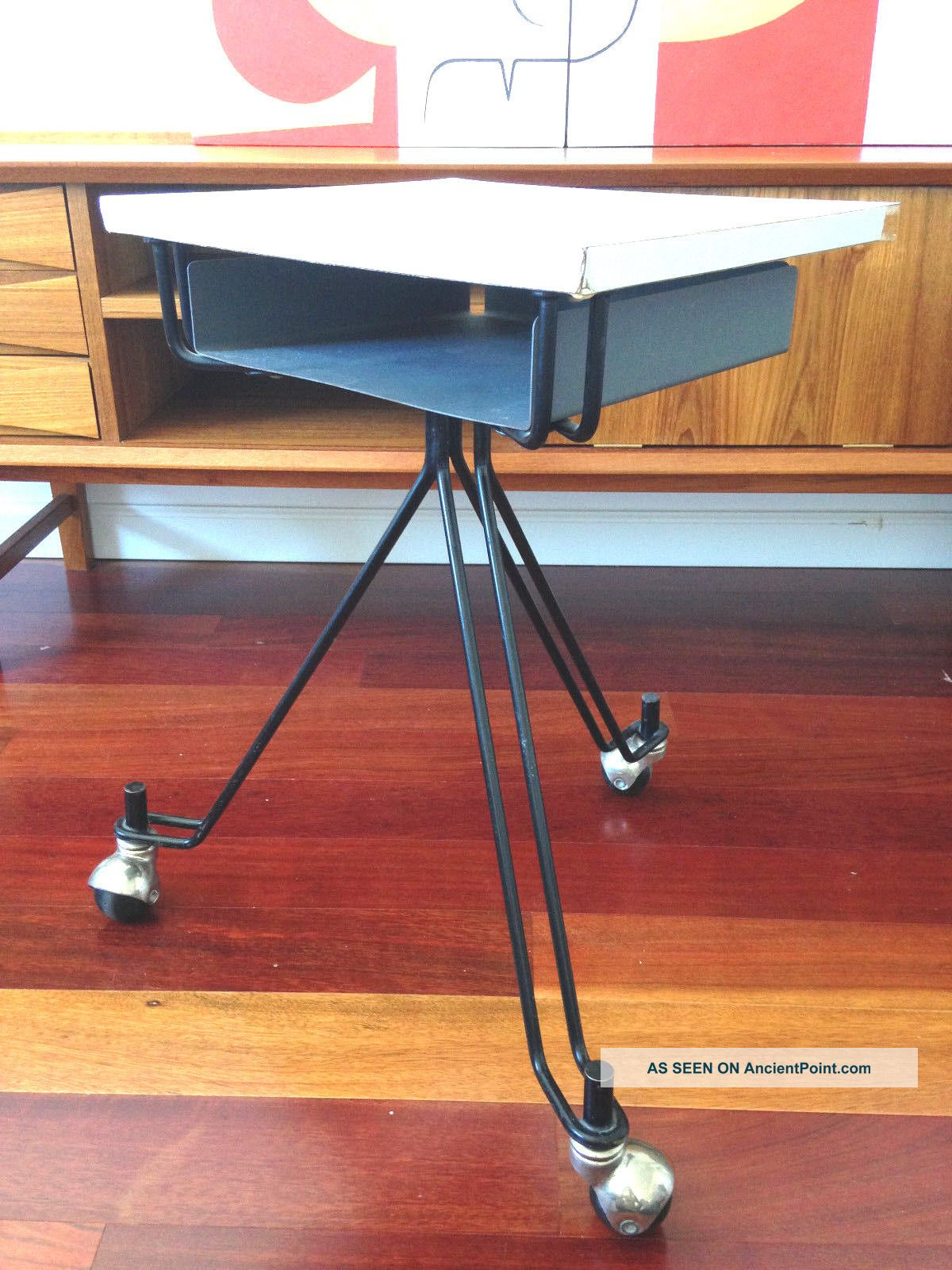 Eliot Noyes Ibm Telephone Rolling Table Dictating Stand Design Modern Post-1950 photo