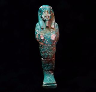 Rare Ancient Egyptian Glazed Ushabti Shabty 664 Bc – 332 Bc photo