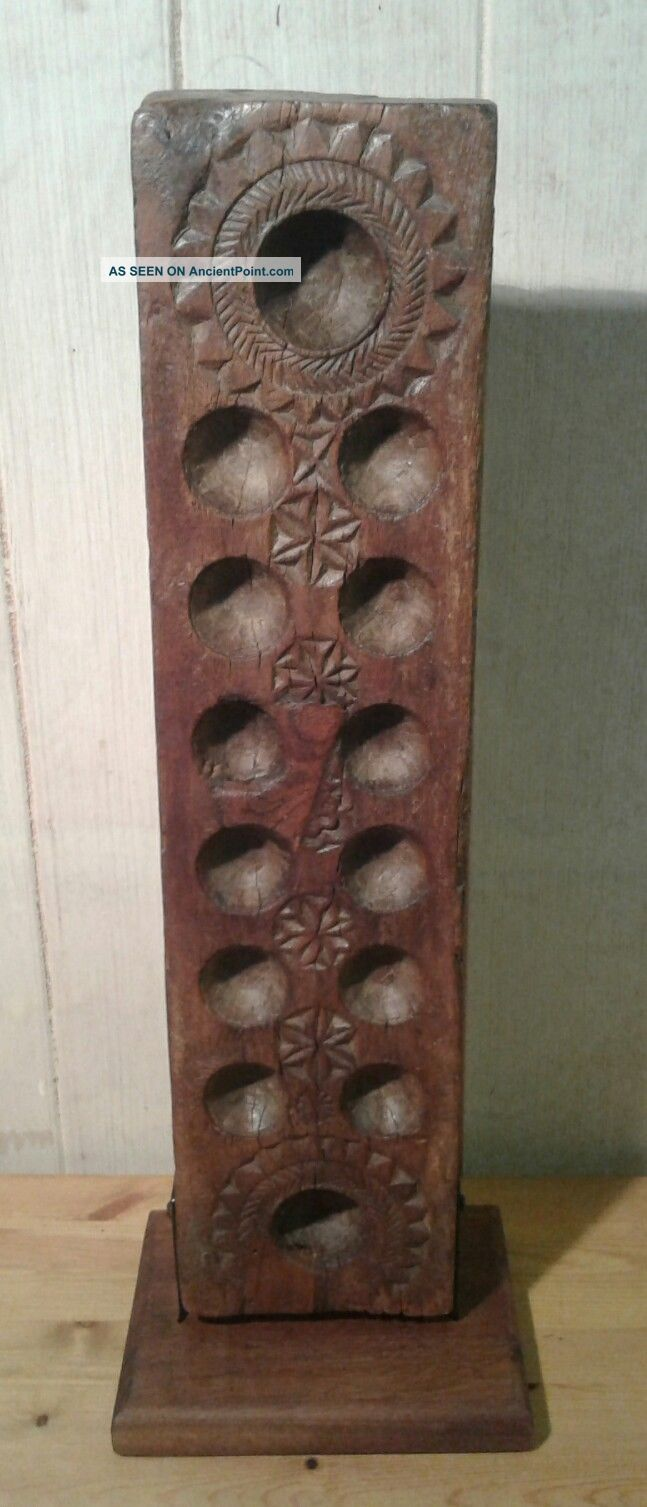 Mounted Antique East African Hardwood Mankala/wari Game Board Other African Antiques photo
