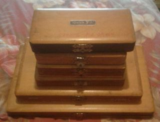 6 Ea.  Antique Watchmakers / Drawer Cabinets Some With Glass Mini - Bottles & Parts photo