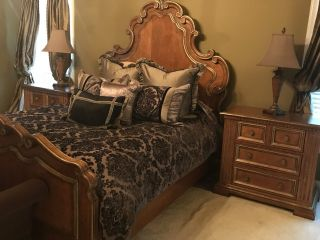 Century Bedroom Furniture (queen Size Bed,  Dresser,  Armoire,  And 2 Nightstands) photo