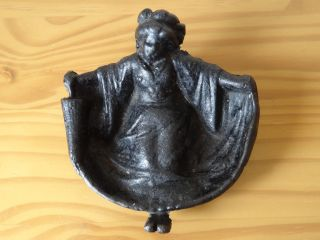 C.  18th - Early British Bronze Iron Art Deco Geisha Risque Filippin Dresser Tray photo