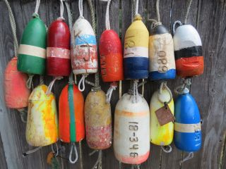 (2556) 14 Dungeness Crab Pot Buoys Net Floats Bouys Lobster Shrimp Crawfish photo