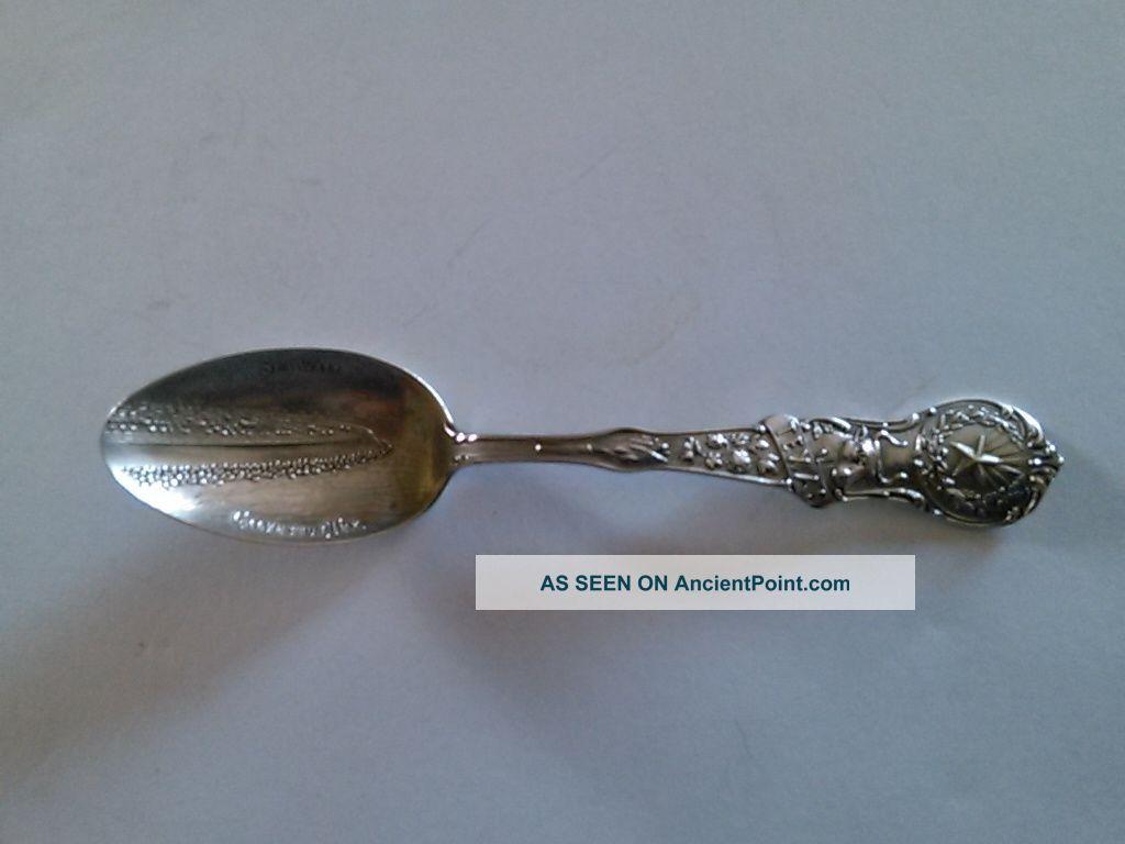 Vintage Sterling Silver Souvenir Spoon - Sea Wall - Galveston,  Tex. Souvenir Spoons photo