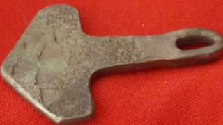 Stunning Viking Silver Thors Hammer photo