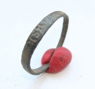 Ancient Medieval Religious Finger Ring I.  H.  S.  (arl01) photo