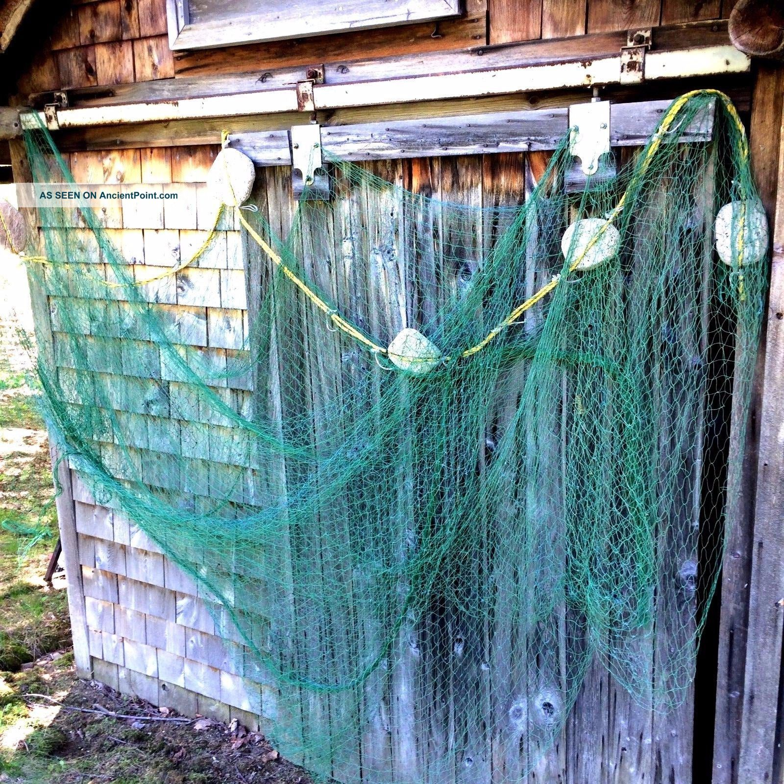 Authentic Fishing Net With Cork Floats - 10 X 20 Ft Fishing Nets & Floats photo