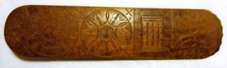 Antique Nautical 1772 Carved Wooden Busk photo