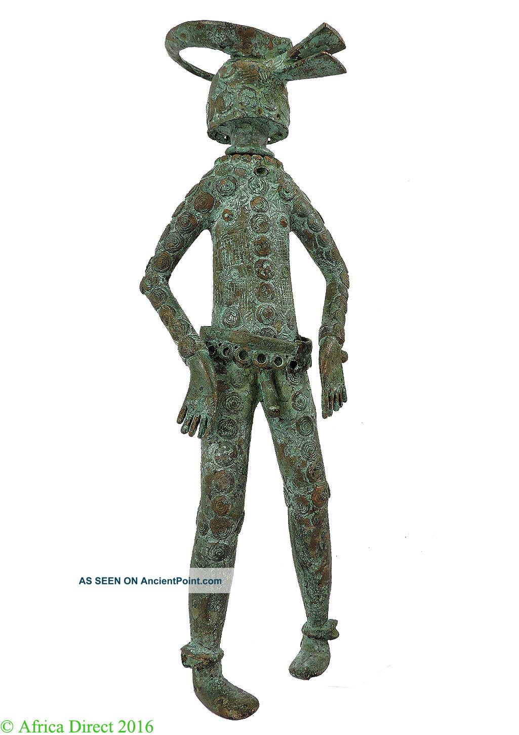 Chamba Bronze Male Nigeria African Art Miniature Was $315.  00 Other African Antiques photo