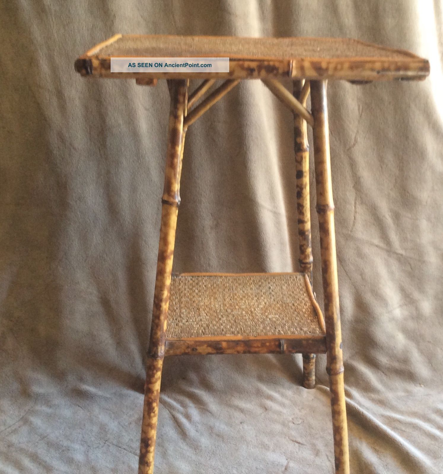 Victorian Circa 1860 English Colonial Bamboo & Cane Side Table 1800-1899 photo