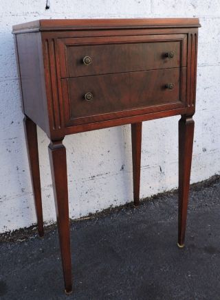 Early 1900s Burl Walnut Nightstand End Table Side Table 8196 photo