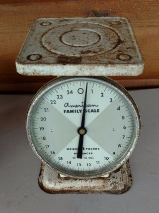 Vintage American Family Scale 25 Lb By Oz Kitchen Counter Scale Antique Decor photo