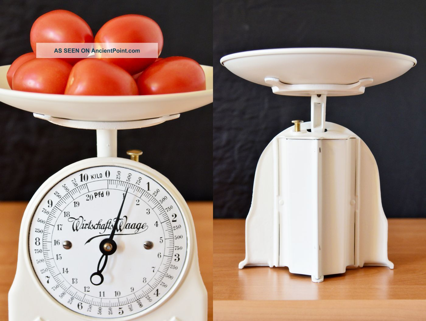 Old Style,  Vintage,  Antique,  Shabby Chic,  German Restored White Kitchen Scale Scales photo