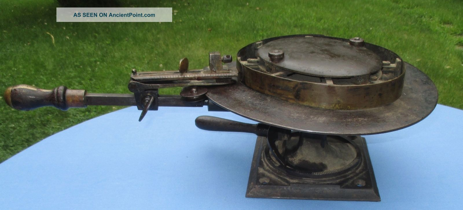 Antique Cast Iron Wenstrom Rounding Jack Brim Trimmer Hatters Millinery Tool. Industrial Molds photo