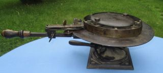 Antique Cast Iron Wenstrom Rounding Jack Brim Trimmer Hatters Millinery Tool. photo