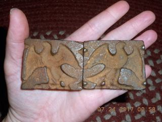 Early 19th Century Miniature Cast Iron Two Piece Candy Mold Of American Eagle photo