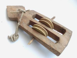 Antique Weaving Loom Part Primitive Wooden Carved Pulley Harness Healds 5 photo