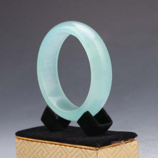 Chinese Hand - Carved Natural Jadeite Jade Bracelet G1007 photo