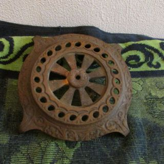 Vintage,  Antique Decorative Cast Iron Trivet/ Home Decor.  Piece. photo