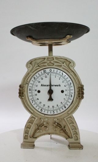 Antique German Scale By Alexanderwerk 1900 photo