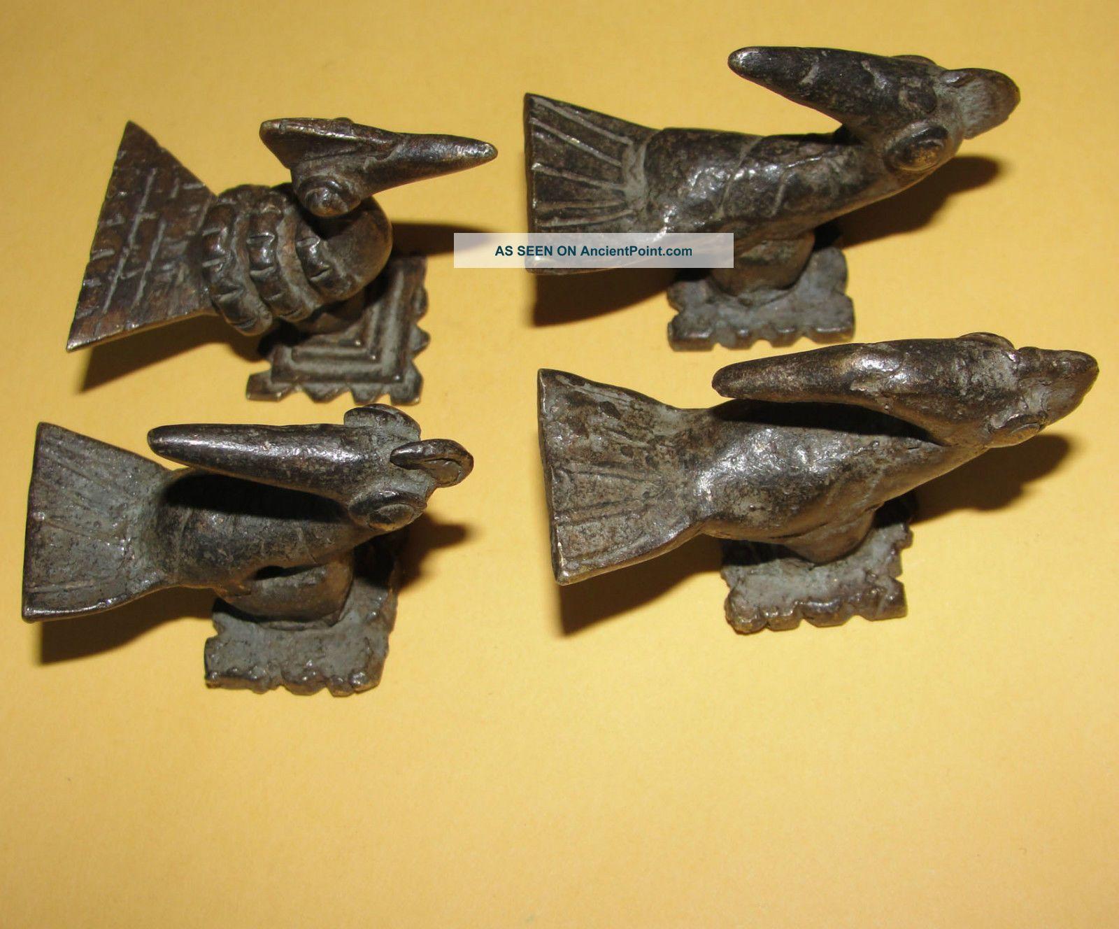 African Bronze Birds Sankofa Goldweight Akan Ashanti Ghana Burkina Gan Lost Wax Sculptures & Statues photo